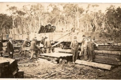 Gang loading cut railway sleepers
