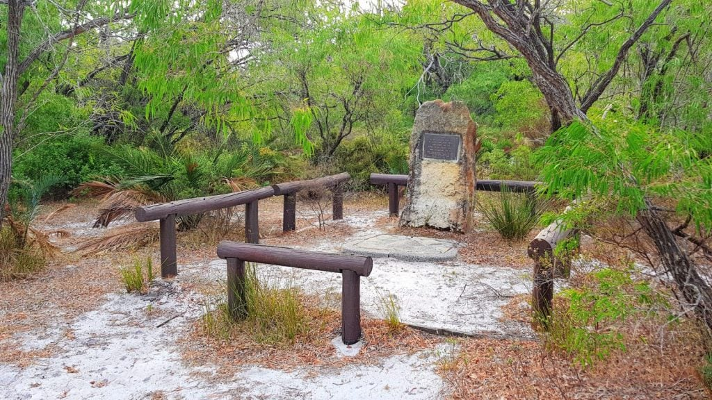 Recent photo of the memorial near Ellensbrook Homestead