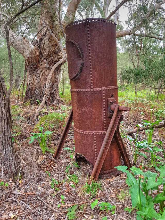 Old boiler at the Karridale Timber Mill Site