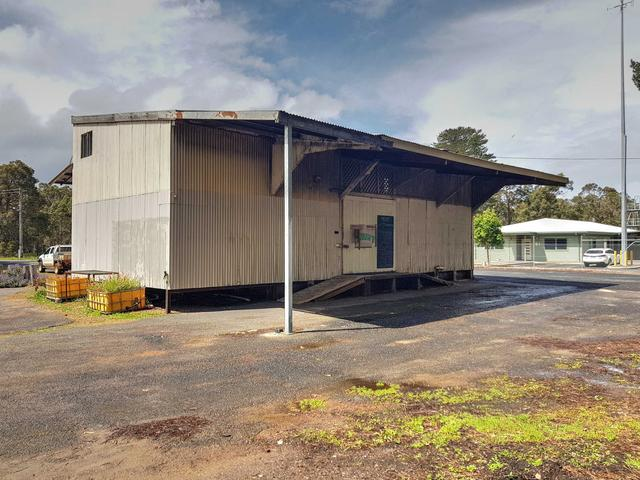 Recent photo of the storage shed at the Margaret River Railway Station Site