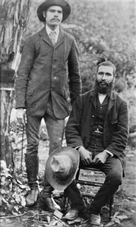 Sam Isaacs, on the right, with his son Fred