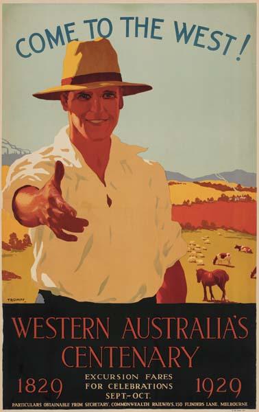 Western Australia Centenary poster