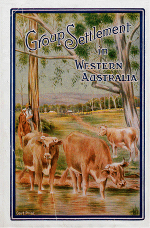 Group Settlement Western Australia poster