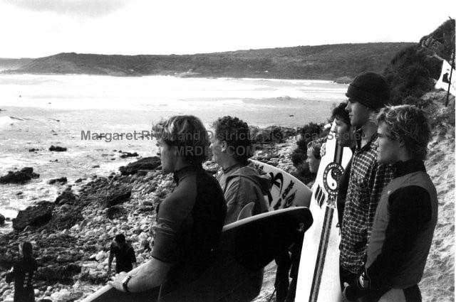 Assessing the swell, Margaret River 1993
